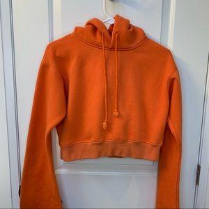 LF orange cropped hoodie